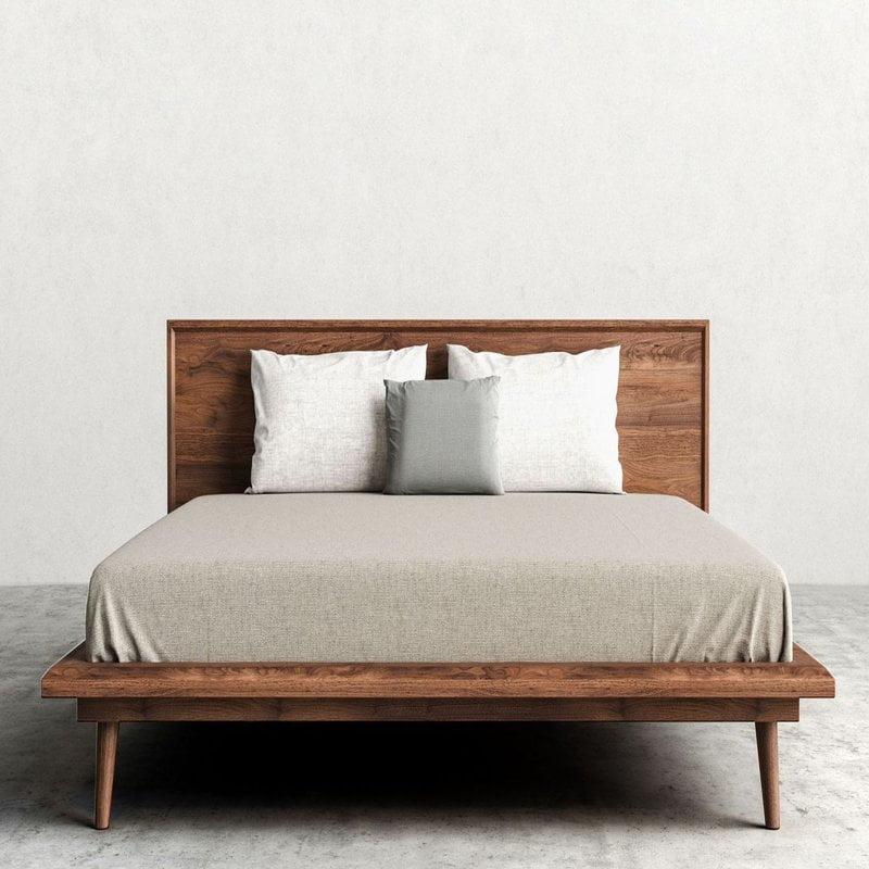Modern Teak Bed Frame Tbf 006